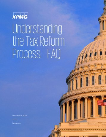 Understanding the Tax Reform Process FAQ