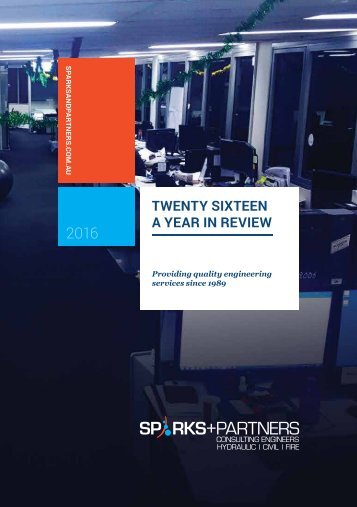 SPARKS+PARTNERS Twenty Sixteen: A year in review