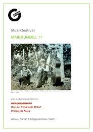 Musikfestival MAIBRUMMEL 11 - Aarau Info