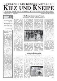 Tradition - Frauen - Gewalt - Kiez und Kneipe Neukölln