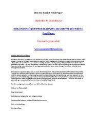 ash HIS 303 Week 5 Final Paper