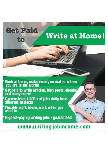 Well-paid writing jobs available
