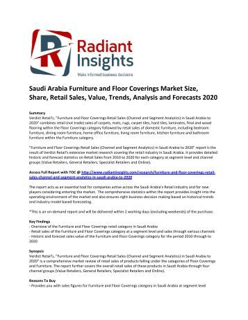 saudi arabia furniture market analysis Dublin--(business wire)-- research and markets has announced the addition of the saudi arabia furniture market forecast 2022 report to their offering it.
