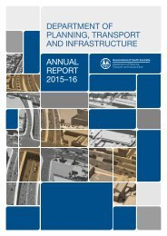 DEPARTMENT OF PLANNING TRANSPORT AND INFRASTRUCTURE ANNUAL REPORT 2015–16
