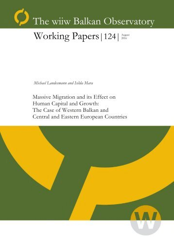 The wiiw Balkan Observatory Working Papers|124|