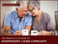 Top Reasons to Choose a Retirement Living in Topeka KS