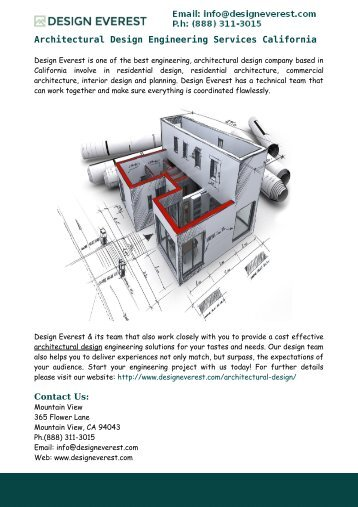 Architectural Design Engineering Services California