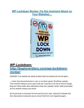 WP Lockdown review and giant bonus with +100 items