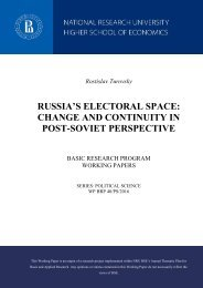 CHANGE AND CONTINUITY IN POST-SOVIET PERSPECTIVE