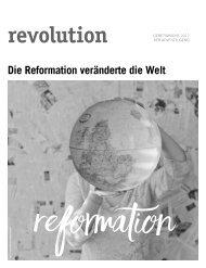 revolution - Die Reformation veränderte die Welt - Jugendgebetslesung 2017