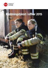 Räddningstjänst i siffror 2015