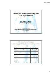 Penentuan Prioritas Pembangunan dan Pagu Indikatif - Universitas ...