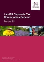 Landfill Disposals Tax Communities Scheme