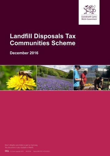 Landfill Disposals Tax Communities Scheme