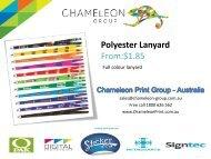 Polyester Lanyard - Chameleon Print Group - Australia