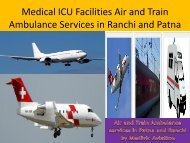 Medical ICU Facilities Air and Train Ambulance Services from Patna  and Ranchi by Medivic Aviation