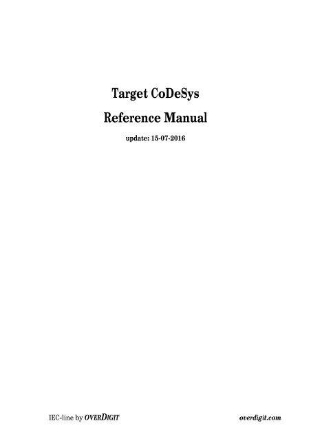 Codesys Tutorial Pdf