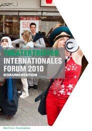 Dokumentation 2010 - Berliner Festspiele