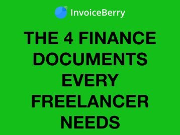 The 4 Finance Documents Every Freelancer Needs