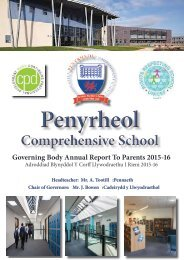 Governing Body Annual Report To Parents 2015-16