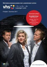 Programmheft VHS Leipziger Land Frühjahrssemester 2017
