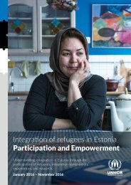 Integration of refugees in Estonia Participation and Empowerment