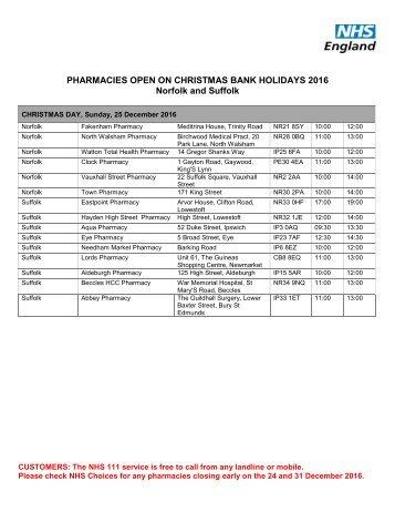 pharmacy - Pharmacy Open On Christmas Day