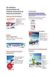 Marketingaktivitäten im Winter 2016_17 für Gastgeber Newsletter