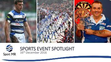 SPORTS EVENT SPOTLIGHT