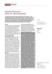 Aktuelles Stichwort: 2016: Ein Jahresrückblick!
