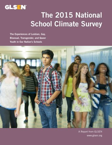 The 2015 National School Climate Survey