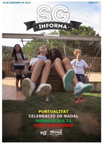 PUNTUALITAT CELEBRACIÓ DE NADAL HORARIS DIA 22 INICI DE CLASSES