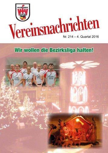 VfV Hildesheim - Vereinszeitung 4/2016