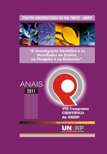Anais de Congresso Cientifico 2011 - Unirp