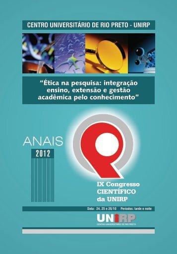 Anais de Congresso Cientifico 2012 - Unirp