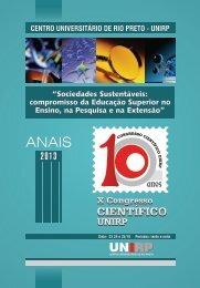 Anais de Congresso Cientifico 2013 - Unirp