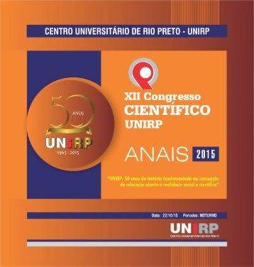 Anais de Congresso Cientifico 2015 - Unirp