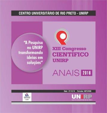 Anais de Congresso Cientifico 2016 - Unirp