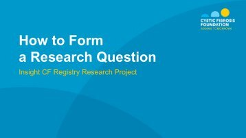 How to Form a Research Question