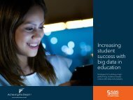 Increasing student success with big data in education