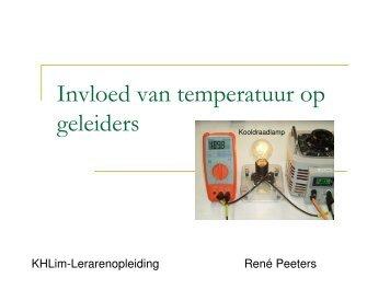 Invloed temperatuur op geleiders