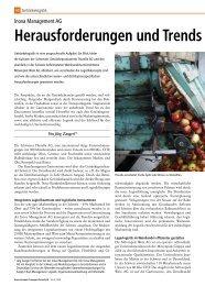 Herausforderungen und Trends in der Geträn - Inova