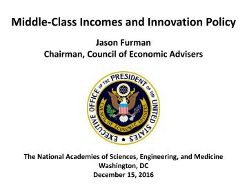 Middle-Class Incomes and Innovation Policy