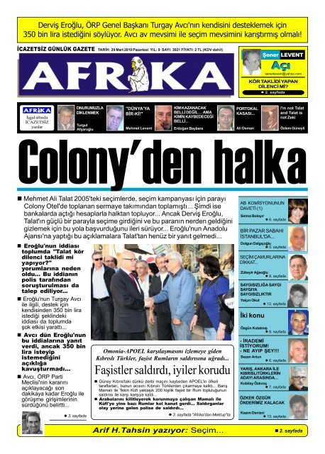 6 Temmuz 2009 Afrika Gazetesi