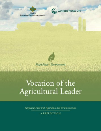 Vocation of the Agricultural Leader