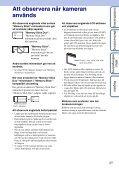 Sony DSC-W190 - DSC-W190 Istruzioni per l'uso Svedese - Page 3