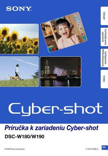 Sony DSC-W190 - DSC-W190 Istruzioni per l'uso Slovacco