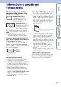 Sony DSC-W190 - DSC-W190 Istruzioni per l'uso Slovacco - Page 3