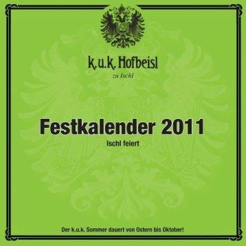 Festkalender 2011 - Apartments Austria