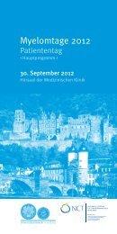 Programm - Myelomtage 2012